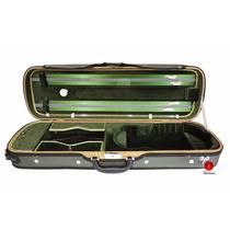 Estojo Case Luxo Retangular Higrômetro Violino 4/4 Verde