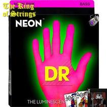 Encordoamento ( Cordas ) P/ Baixo Dr Neon - Pink .40
