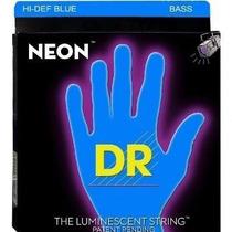 Cordas De Contrabaixo 4 Cordas Dr Neon Azul 0.45/105
