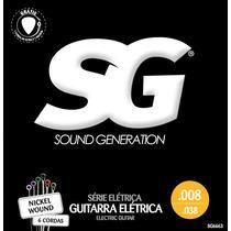 Corda 08 Guitarra Sg Nickel Wound 6663 Encordoamento 5 Sets