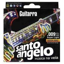Encordoamento Guitarra Santo Angelo 0.009 Super Light Oferta
