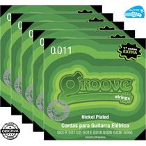 Jogo De Cordas Groove 011 Gs3x Para Guitarra Nickel 5 Jogos