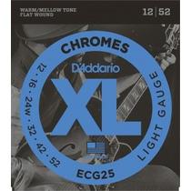 Oferta ! D Addario Ecg25 Encordoamento Guitarra Chromes 012
