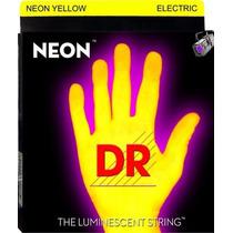 Jogo De Cordas Completo Para Guitarra Dr Neon 09 Made In Usa