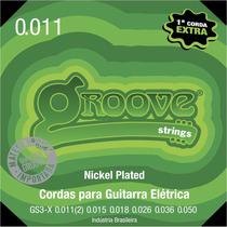 Cordas 011 Groove Guitarra Nickel Gs3x - 3 Jogos Promoção