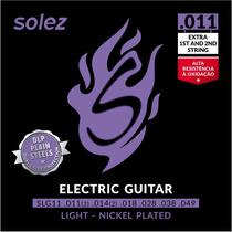 Cordas 011 Solez Guitarra Nickel Slg11 - 3 Jogos Promoção