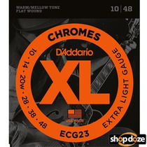 Encordoamento Daddario Ecg23 Chromes Flat Wound .010-.048