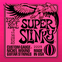 Encordoamento Guitarra 009 Ernie Ball Super Slinky 2223