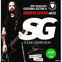 Encordoamento 010 Sg Guitarra Andreas Kisser 6670 - 3 Sets