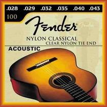 Encordoamento Fender Violão Nylon .028 Pct C/06 Frete Grátis