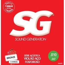 Encordoamento Violão Aço Fosforoso Sg Sg6690 Bronze 010-.047