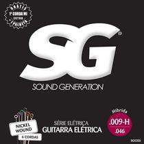 Encordoamento Sg Para Guitarra 009 Nickel Hibrida