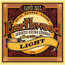 Encordoamento Ernie Ball Violão Aço Earthwood 011 Leve