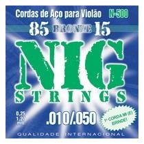 Encordoamento Para Violão Aço Bronze 6 Cord Nig 010/050 N500
