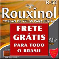 Encordoamento Cordas Para Violão Rouxinol Nylon Médio R-58