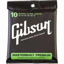 ** Encordoamento Violão Gibson Masterbuilt Phosphor Br. 0.10