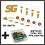 5 Jogos Corda Sg P/ Violão Nylon T. Alta 5405 + 100 Palhetas