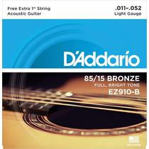 Encordoamento P/ Violão D´addario, Bronze 85/15 Ez910-b .011