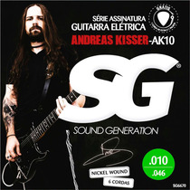 Encordoamento 010 Cordas Sg P/ Guitarra Andreas Kisser 6670