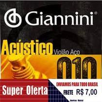 Cordas P/ Violão Aço Giannini 0.10 Encordoamento Bronze65/35