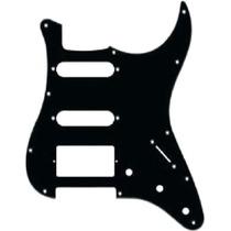Escudo Preto Hss Captador Humbucker Guitarra Strato Fender
