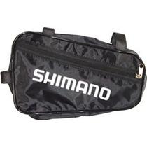 Bolsa Shimano P/ Quadro Nylon Impermeavél C/ Preta Bikes