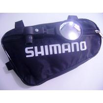 Bolsa Impermeavel Shimano + 1 Retrovisor Pretos