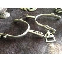 Antigo Par Esporas 118 Eberle Alpaca Apenas 1 Fivela