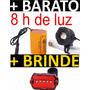 Farol Bicicleta/bike Monster Led Super Bateria 6x Lançamento