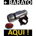 Kit Segurança Bike Com Farol 5 Leds E Luz Traseira