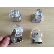 Jogo 4 Rodinhas 50mm Gel Chapa/base Fixa Rodízio Rf140002