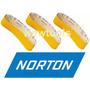 Cinta De Lixa Com 3 Peças 610x100mm P/madeira Norton Grão80