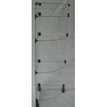Prateleira De Canto - Cantoneira 0,30 X 1,00m - Vidro 4mm
