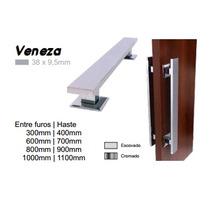 Puxador Alumínio Veneza 400mm Portas Madeira/vidro/aluminio