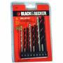 Jogo 9 Brocas Aço Rápido / Widea / Aço Carbono Black Decker