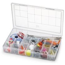 Kit Com 10 Caixas Organizadoras Plásticas 16 Divisões 106