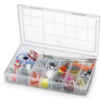 Kit Com 50 Caixas Organizadoras Plásticas 16 Divisões 106