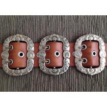 3 Fivelas Bonezinho - Alpaca Antiga Corneta 143 - Originais