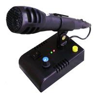 Mic De Ganho-microfone De Mesa Mc-2x C/ 65 B P/ Vhf/hf/px