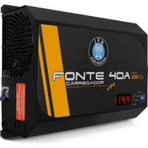 Fonte Carregador Bateria Jfa 40 Amper Bivolt 12.4v A 14.4v