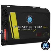 Fonte 70a Carregador Bateria Jfa Com Voltimetro Mantem 3500w