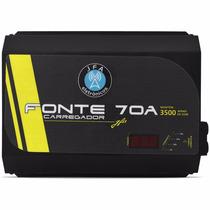 Fonte Carregador Bateria Jfa 70a Voltimetro Suporta 3500 Rms