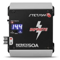 Fonte E Carregador De Bateria Stetsom 50 Amperes Voltimetro