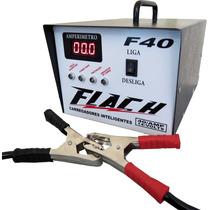 Fonte Automotiva Carregador De Baterias Aut. Flach F40 Amper