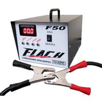 Fonte Automotiva Carregador De Bateria Flach F50 Amperes
