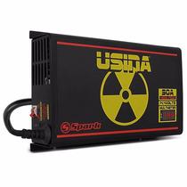 Fonte Carregador Bateria Usina 90a Voltimetro E Amperimetro