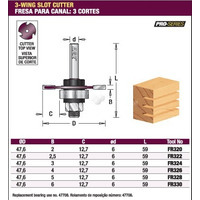 Fresa Amana Tool Age Canal Debrum 3mm Tupia Fr324