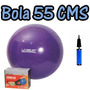 Bola Suiça 55 Cm Pilates Yoga Fitness Live Up + Bomba Grátis