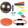 Kit Yoga Pilates C/ 10 Itens Bola, Thera Band Disco Extensor