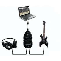 Guitar Link Usb Ligar Guitarra No Pc Interface De Audio